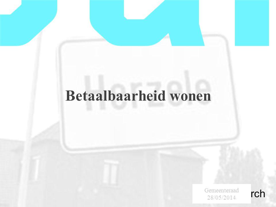 SumResearch Urban Consultancy Betaalbaarheid wonen Gemeenteraad 28/05/2014