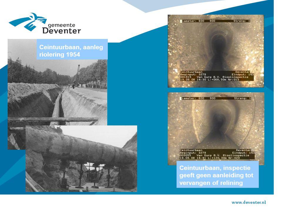 Ceintuurbaan, aanleg riolering 1954 Ceintuurbaan, inspectie geeft geen aanleiding tot vervangen of relining