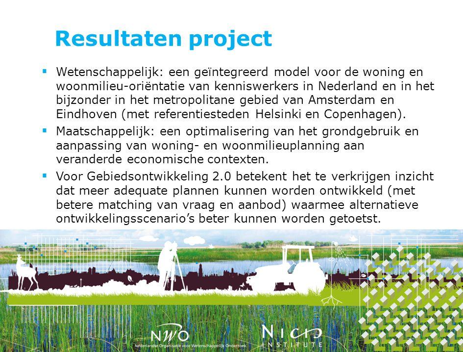 Resultaten project  Wetenschappelijk: een geïntegreerd model voor de woning en woonmilieu-oriëntatie van kenniswerkers in Nederland en in het bijzond