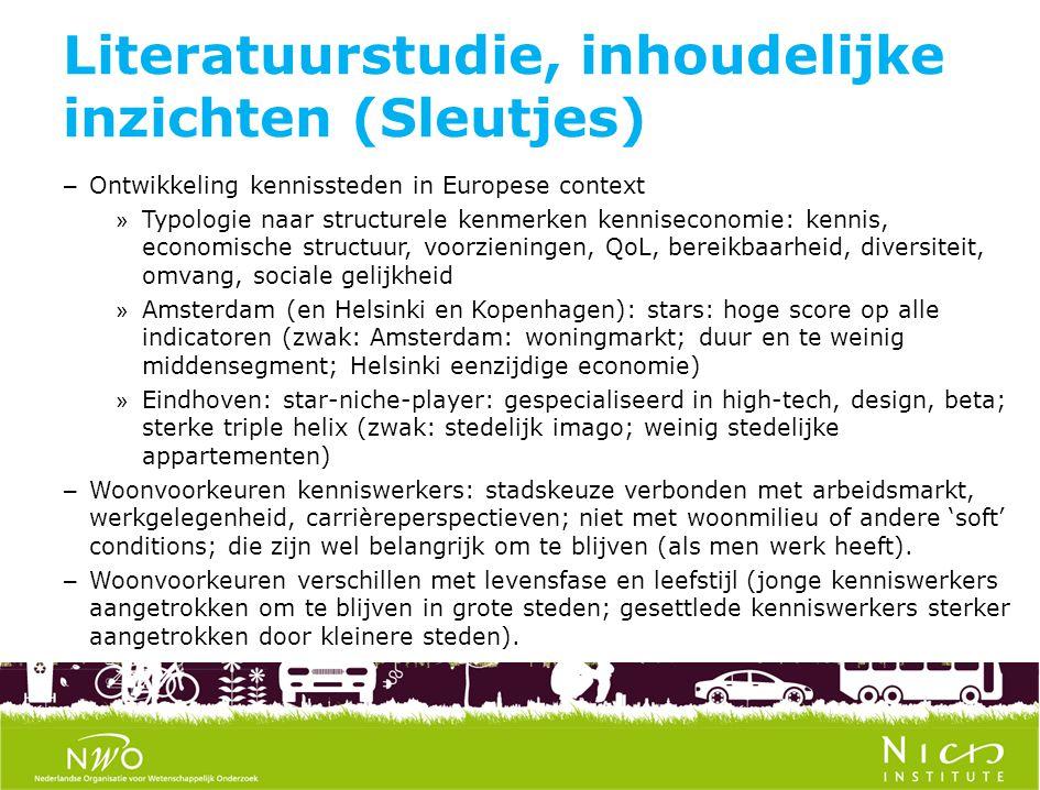 Literatuurstudie, inhoudelijke inzichten (Sleutjes) – Ontwikkeling kennissteden in Europese context » Typologie naar structurele kenmerken kennisecono