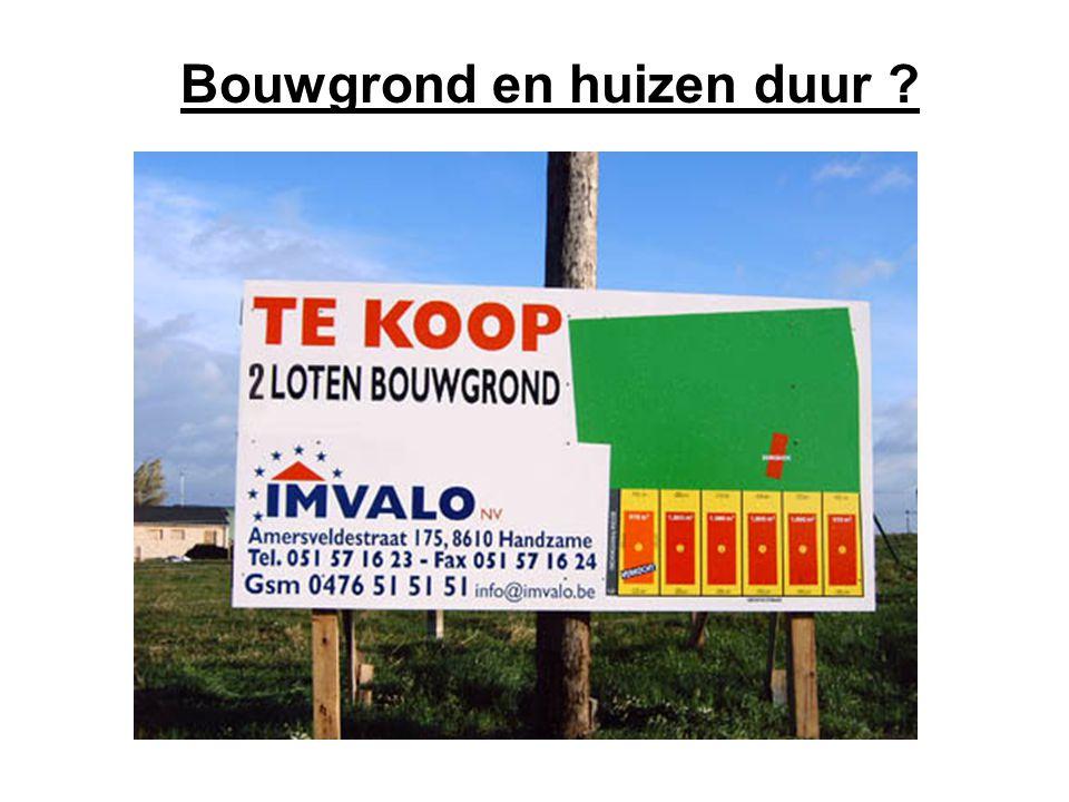 De prijs van een perceel bouwgrond in Vlaanderen ligt nu bijna drie keer hoger dan tien jaar geleden.