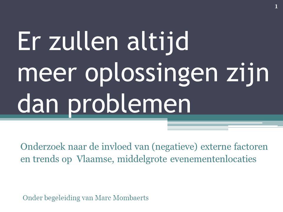 Er zullen altijd meer oplossingen zijn dan problemen Onderzoek naar de invloed van (negatieve) externe factoren en trends op Vlaamse, middelgrote even
