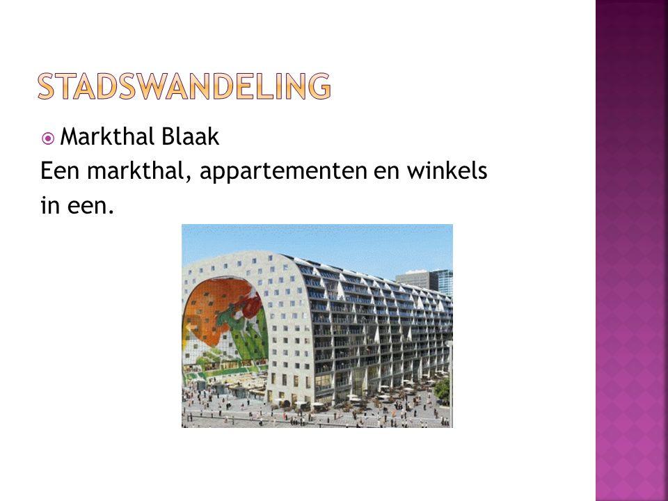  Markthal Blaak Een markthal, appartementen en winkels in een.