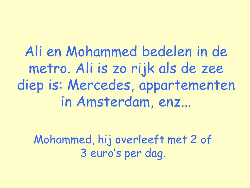 Ali en Mohammed bedelen in de metro.