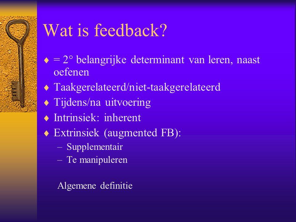 Wat is feedback.