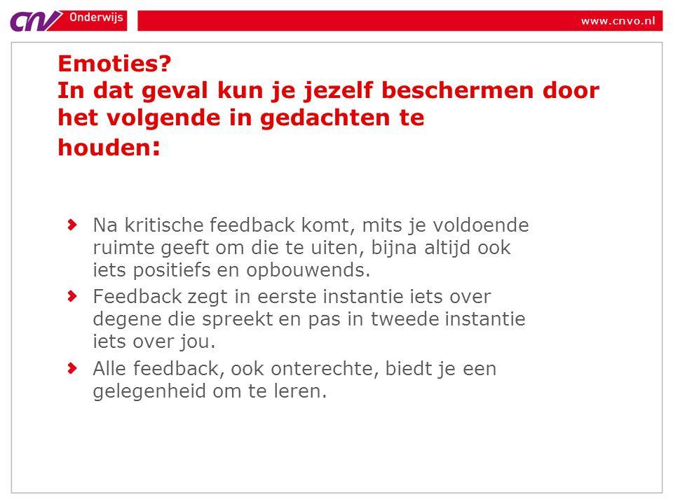 www.cnvo.nl Emoties.