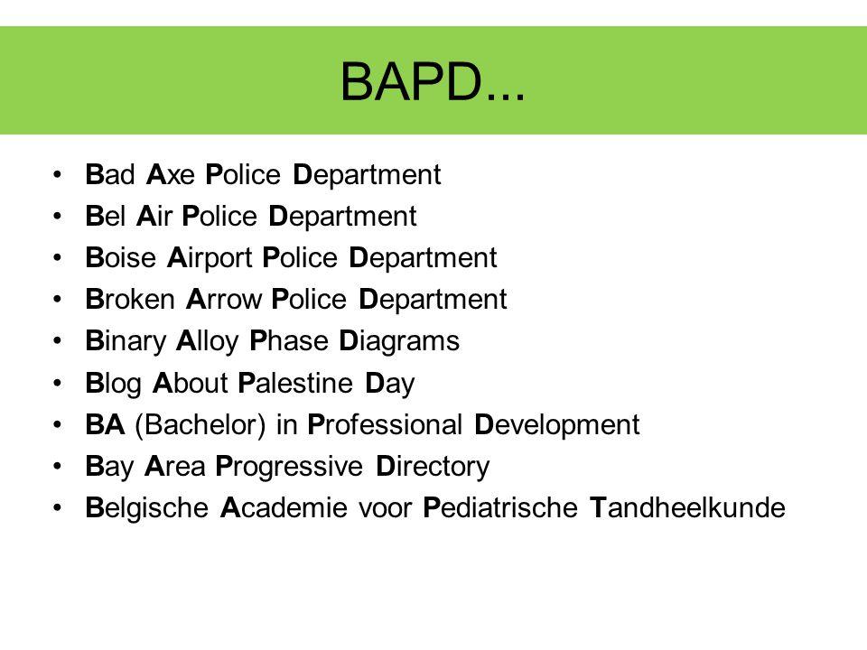 Een woord van dank! 48 (41) BAPD 33 (18) super- visoren
