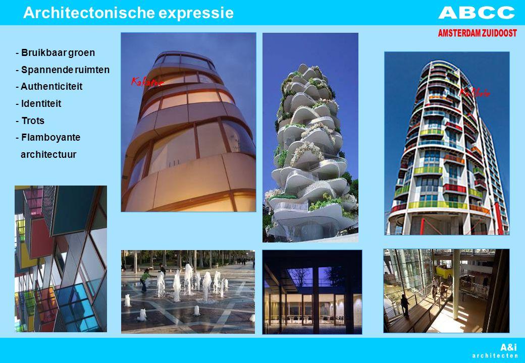 - Bruikbaar groen - Spannende ruimten - Authenticiteit - Identiteit - Trots - Flamboyante architectuur Architectonische expressie Kolibrie Kakatoe