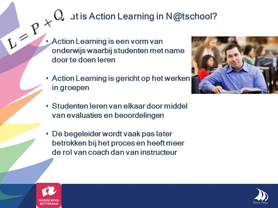 Action Learning is een vorm van onderwijs waarbij studenten met name door te doen leren Action Learning is gericht op het werken in groepen Studenten