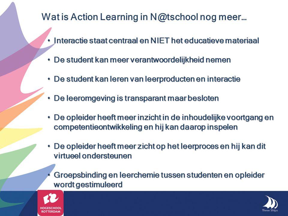 Interactie staat centraal en NIET het educatieve materiaal Interactie staat centraal en NIET het educatieve materiaal De student kan meer verantwoorde