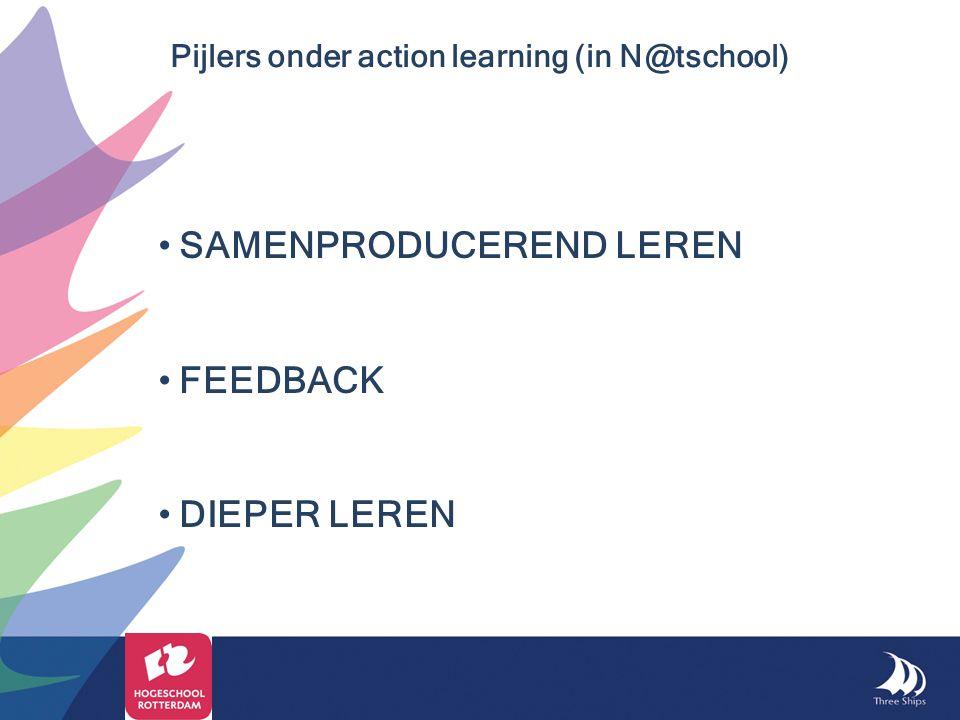 SAMENPRODUCEREND LEREN FEEDBACK DIEPER LEREN Pijlers onder action learning (in N@tschool)