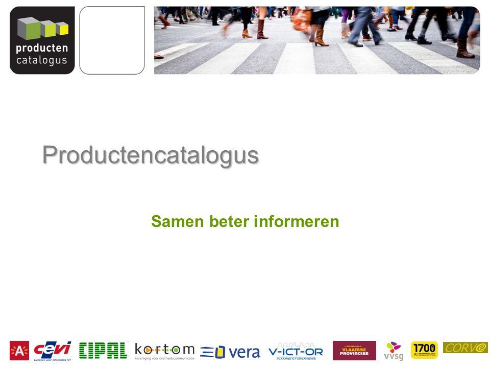 Productencatalogus Samen beter informeren
