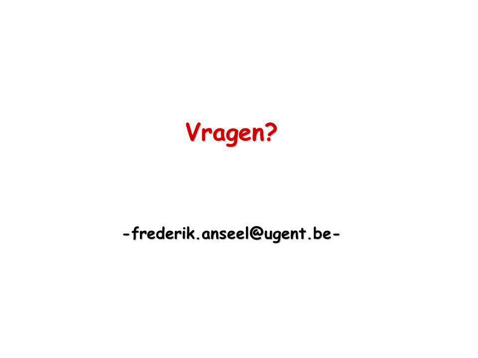 Vragen? -frederik.anseel@ugent.be-