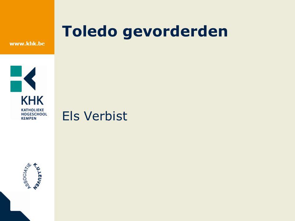www.khk.be Toledo gevorderden Els Verbist