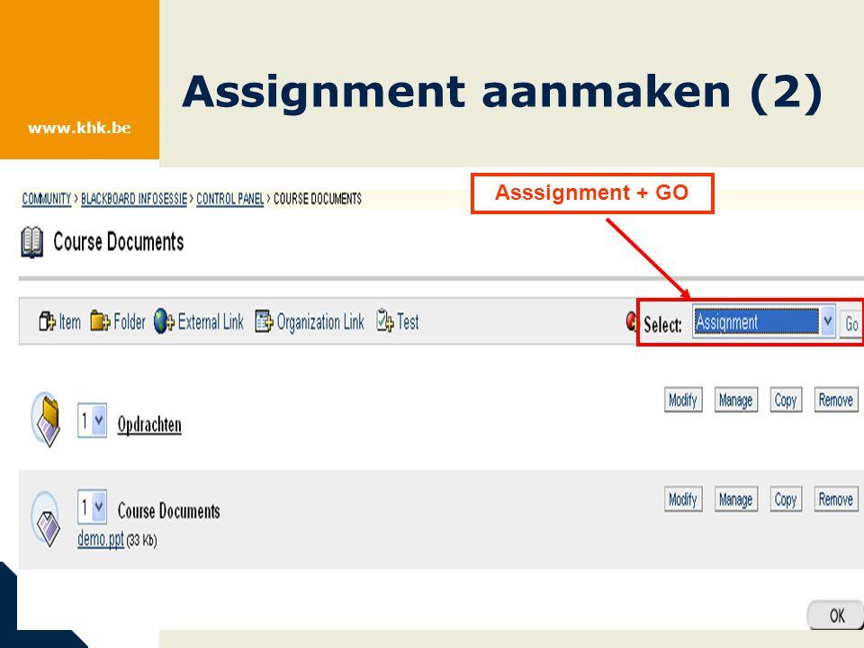 www.khk.be Assignment aanmaken (3)