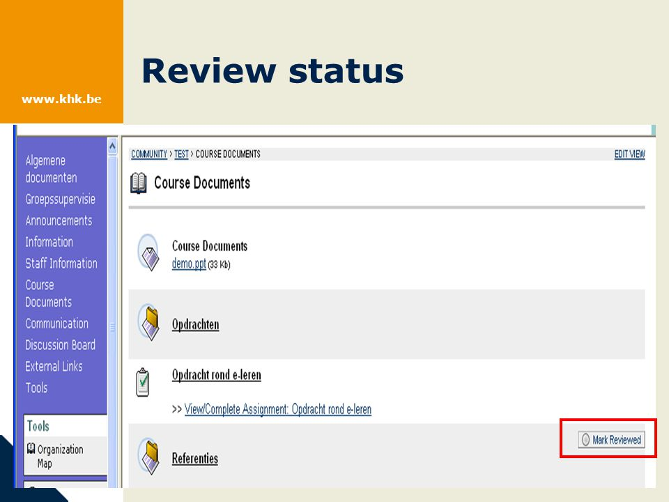 www.khk.be Review status