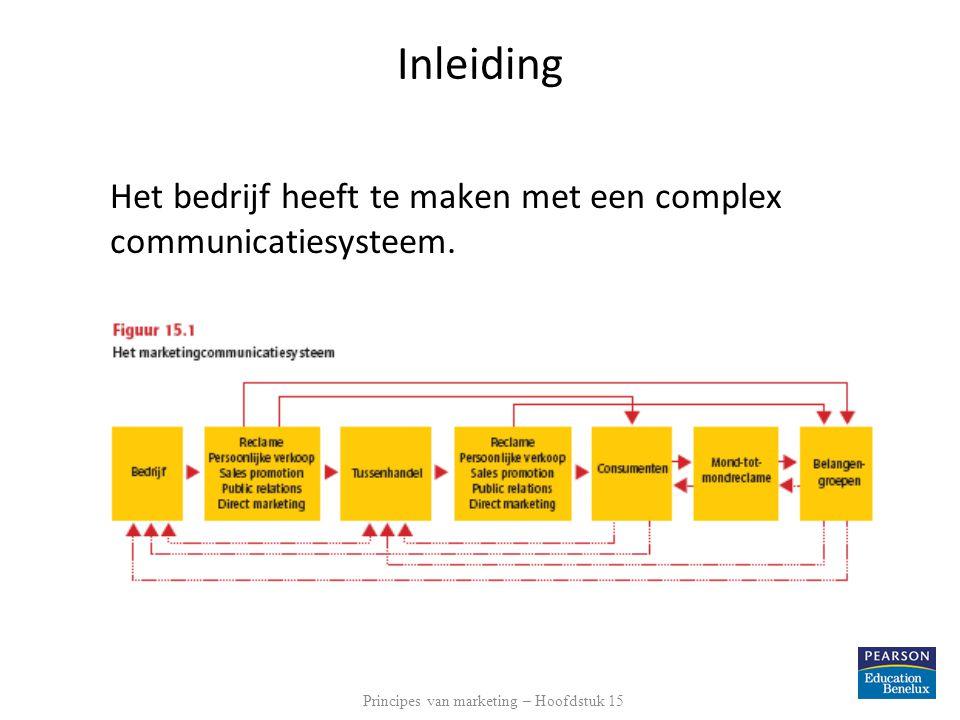Inleiding Het bedrijf heeft te maken met een complex communicatiesysteem.