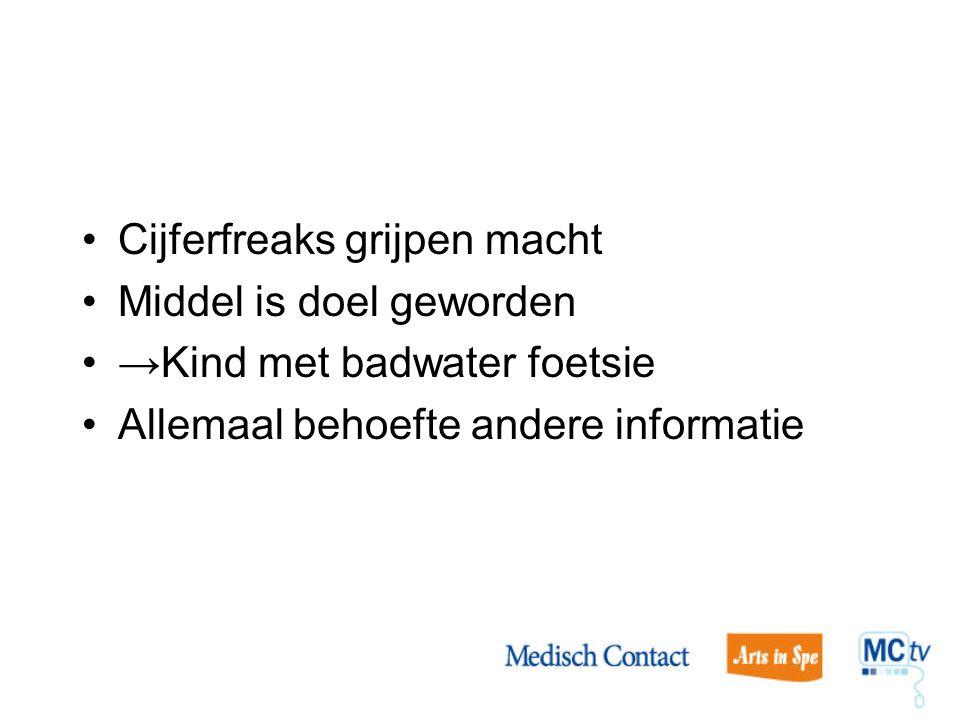 Cijferfreaks grijpen macht Middel is doel geworden →Kind met badwater foetsie Allemaal behoefte andere informatie