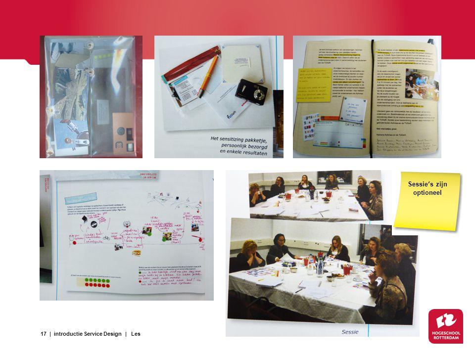 17   introductie Service Design   Les Sessie's zijn optioneel