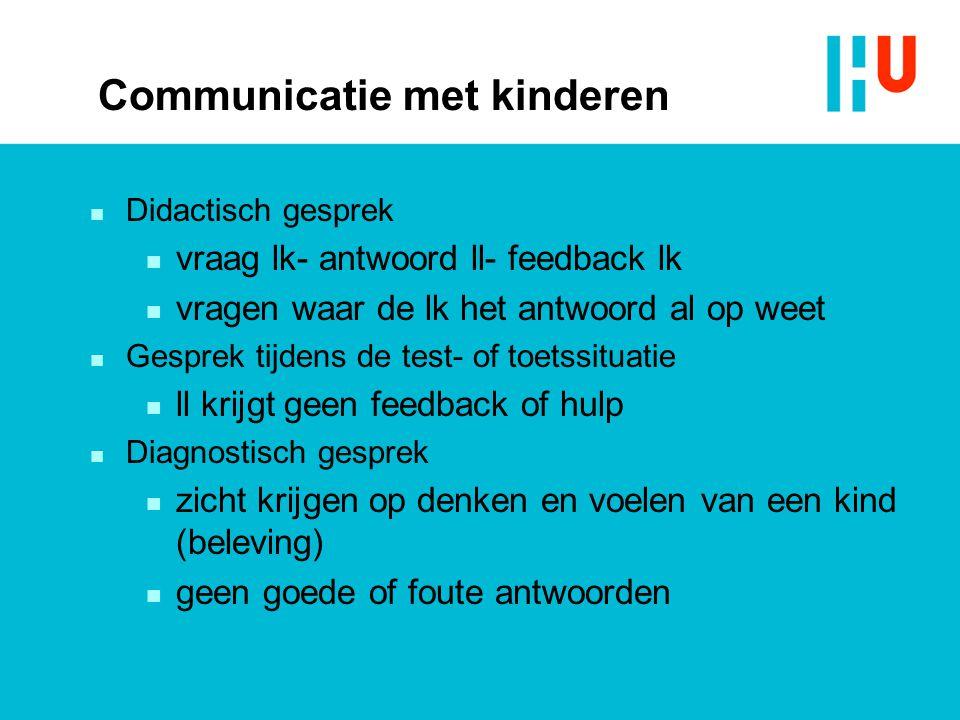 Communicatie met ouders n De rol van de ouders n De plek van de ouders in het proces n Uitspreken van verklaringen en verwachtingen