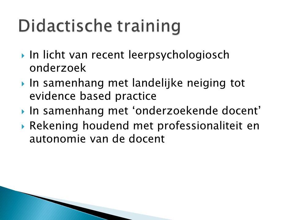  Nadruk op train de trainers  Algemene inzichten in relatie brengen met woordenschatdidactiek en taalbeleid  Hierbij steeds verband leggen met schoolbeleid