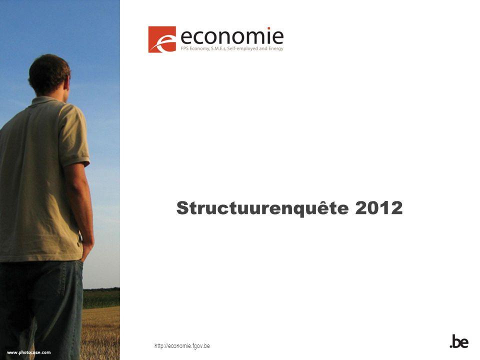 http://economie.fgov.be Structuurenquête 2012