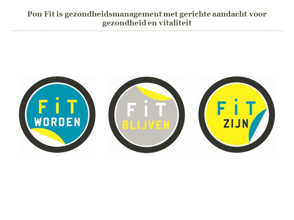 Pon Fit is gezondheidsmanagement met gerichte aandacht voor gezondheid en vitaliteit