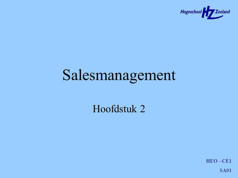 HEO –CE1 SA01 Salesmanagement Hoofdstuk 2