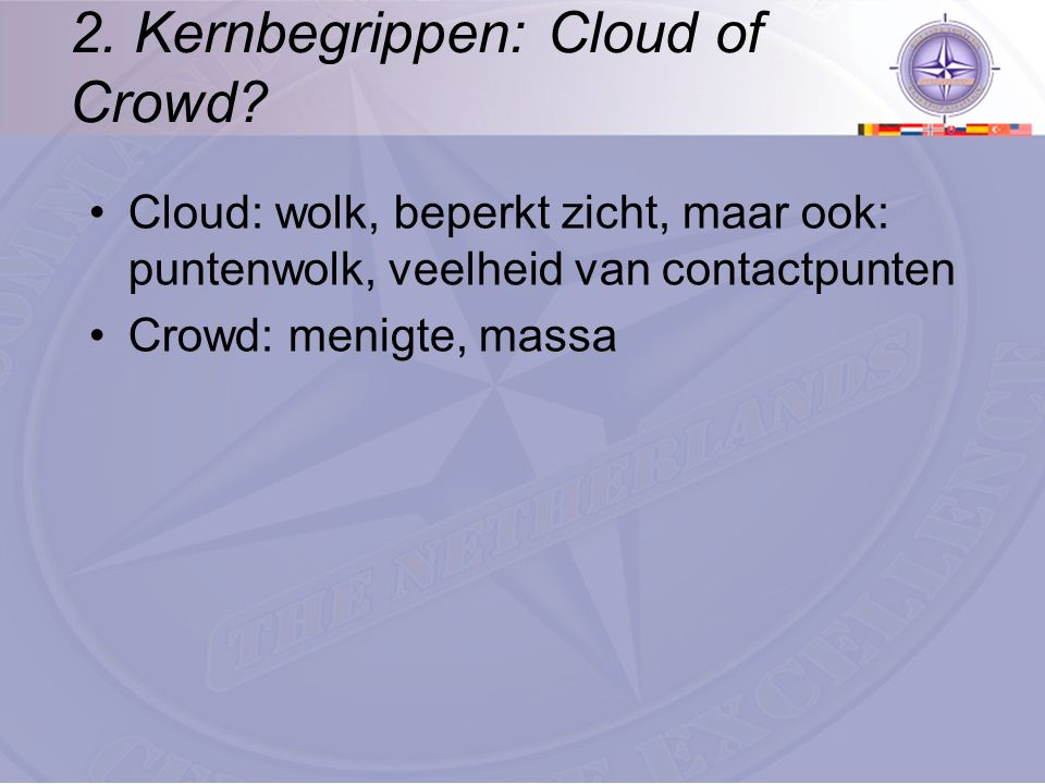 2. Kernbegrippen: Cloud of Crowd.