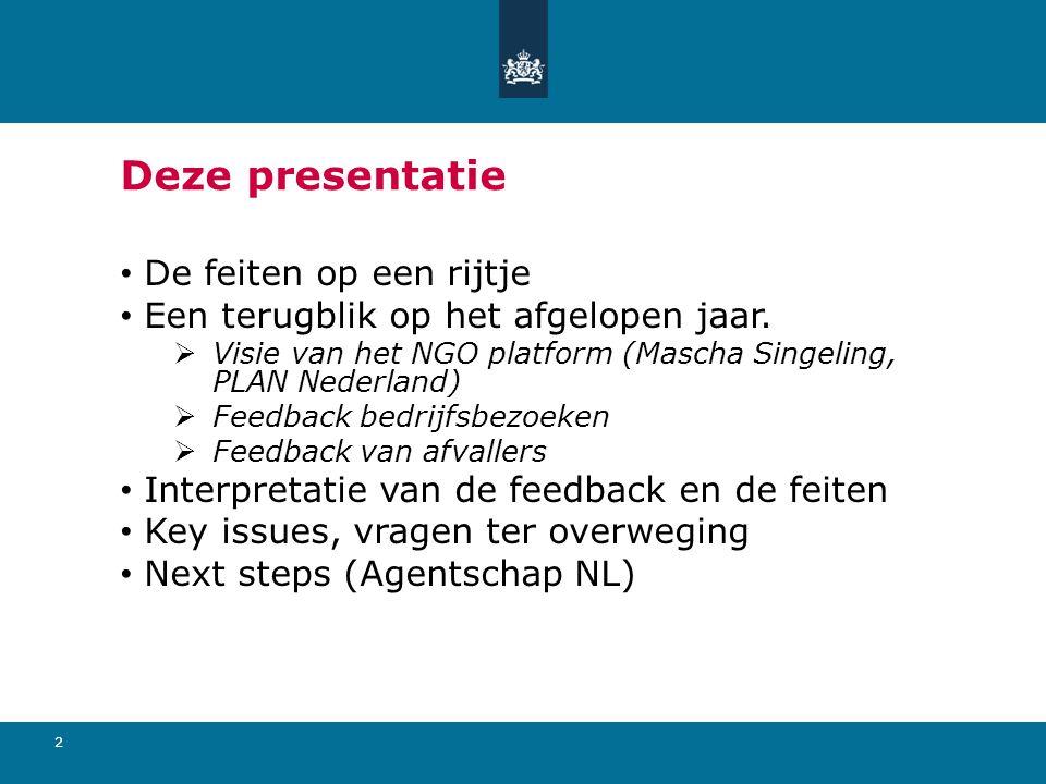 2 Deze presentatie De feiten op een rijtje Een terugblik op het afgelopen jaar.