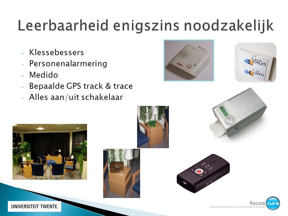 - Klessebessers - Personenalarmering - Medido - Bepaalde GPS track & trace - Alles aan/uit schakelaar