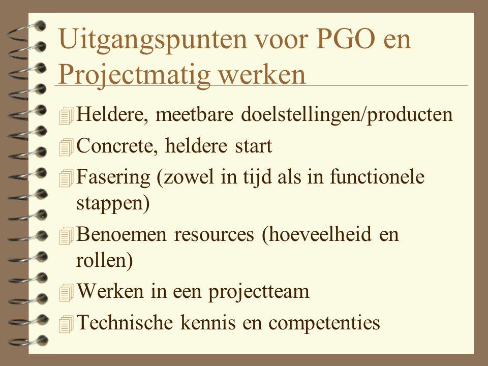 Samenhang PGO - Projectmatig werken