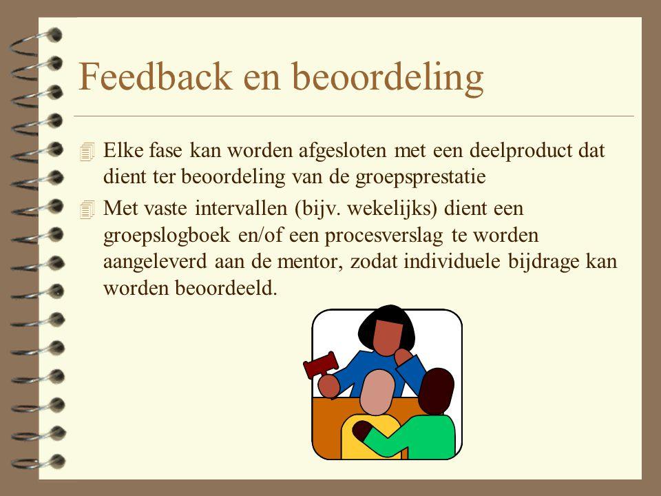 Acceptatie 4 Focus op het (leer)proces. 4 Focus op het product Tip: gedraag je bij de acceptatie als een klant, die moet beoordelen of het product vol