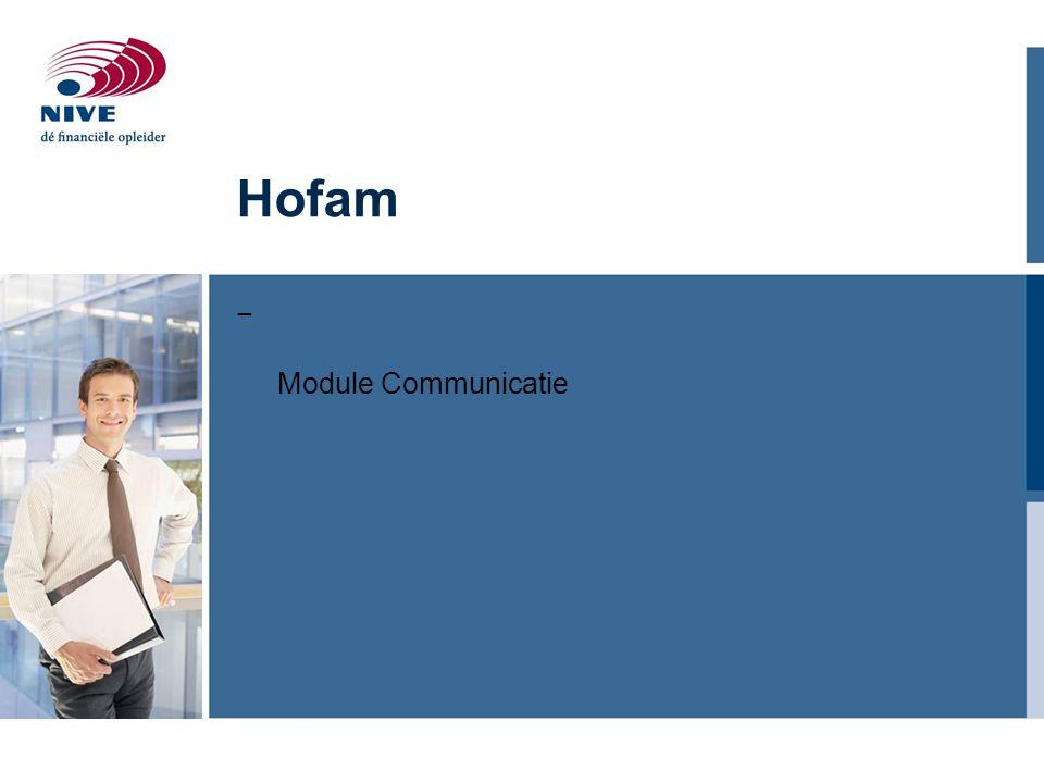Hofam − Module Communicatie