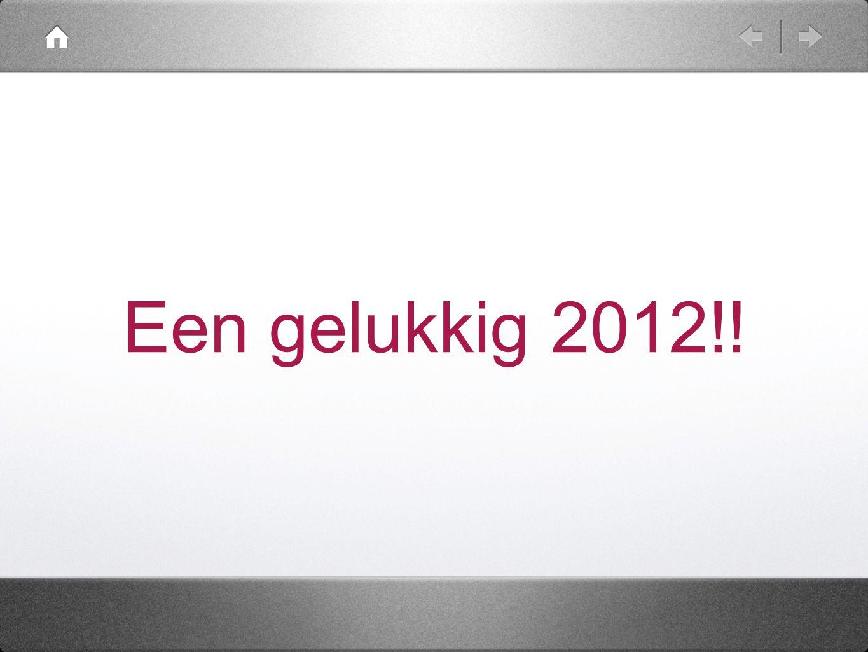 Een gelukkig 2012!!