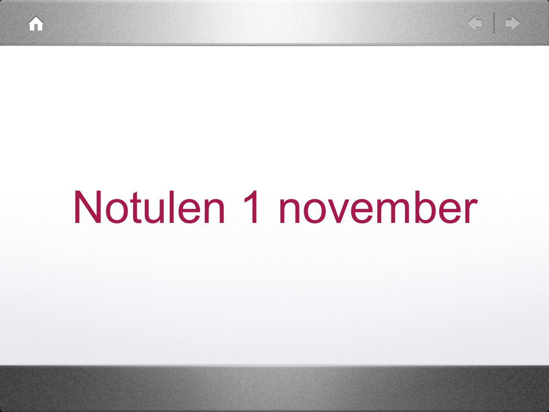 Notulen 1 november