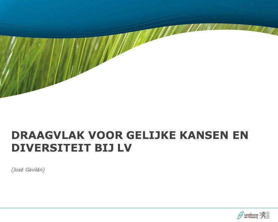 22 Draagvlak voor gelijke kansen en diversiteit bij LV Wat is het.