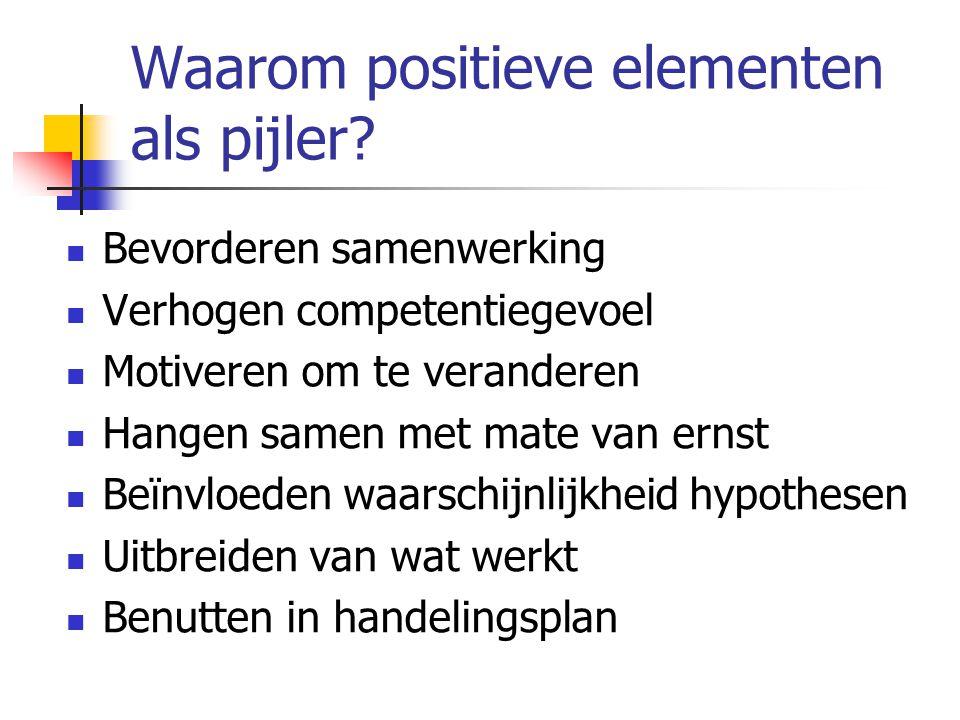 Waarom positieve elementen als pijler.