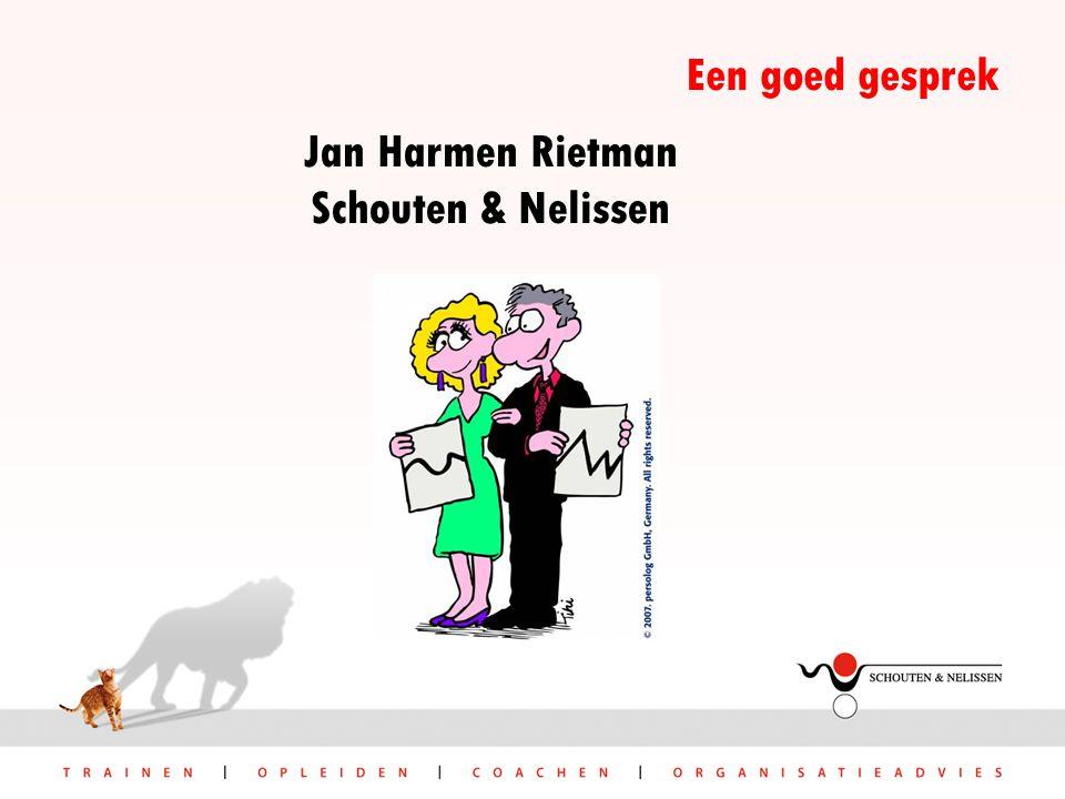 Jan Harmen Rietman Schouten & Nelissen Een goed gesprek