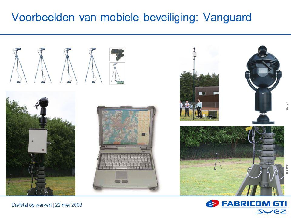 Diefstal op werven | 22 mei 2008 FILENAME 10 of tot Voorbeelden van mobiele beveiliging: Vanguard