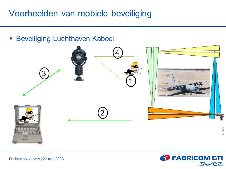 Diefstal op werven | 22 mei 2008 FILENAME 11 of tot Voorbeelden van mobiele beveiliging  Beveiliging Luchthaven Kaboel 4 2 3 1