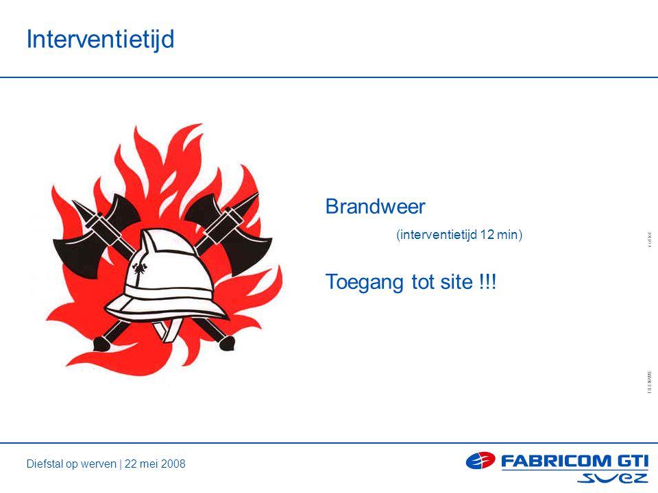 Diefstal op werven | 22 mei 2008 FILENAME 4 of tot Interventietijd Brandweer (interventietijd 12 min) Toegang tot site !!!