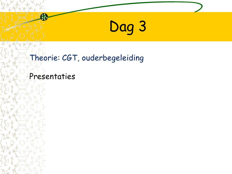 Dag 3 Theorie: CGT, ouderbegeleiding Presentaties
