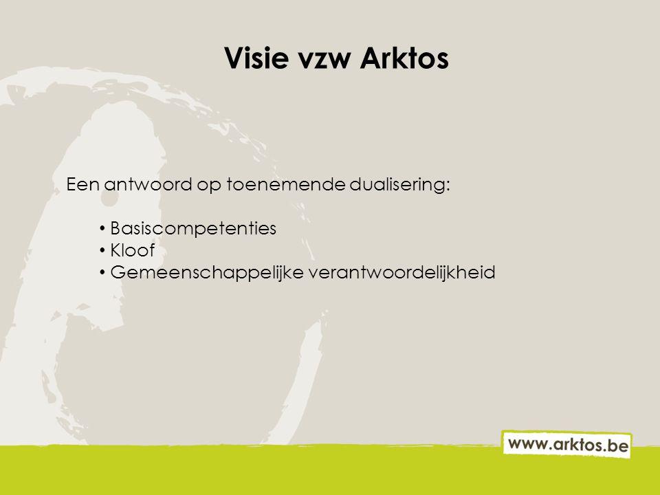 Visie vzw Arktos Een antwoord op toenemende dualisering: Basiscompetenties Kloof Gemeenschappelijke verantwoordelijkheid