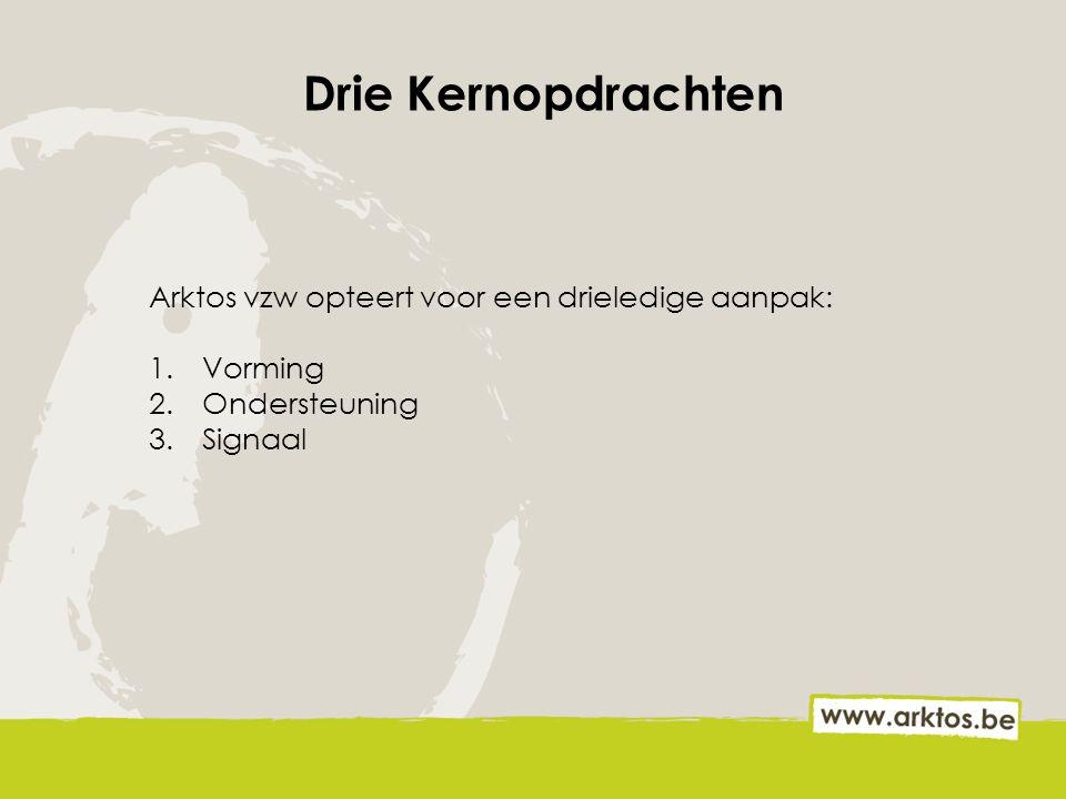 5 inrijpoorten Arktos vzw is een partner voor jongeren op hun verschillende levensdomeinen: 1.Arbeid: Tendering (Limburg) 2.Welzijn: Stroom (Leuven) 3.Onderwijs: Switch (Oostende) 4.Vrije tijd: The M-Project (Moorsele) 5.Woonomgeving: JWNS en KWNS (Oostende) + Rots en Water: levensdomeinoverschrijdend