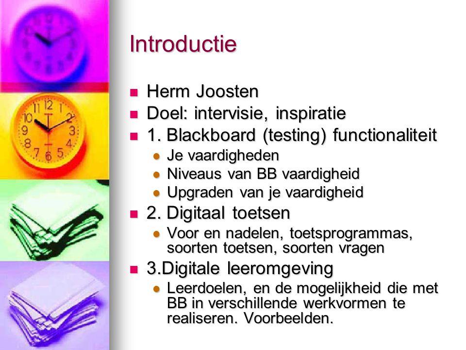 Introductie Herm Joosten Herm Joosten Doel: intervisie, inspiratie Doel: intervisie, inspiratie 1.