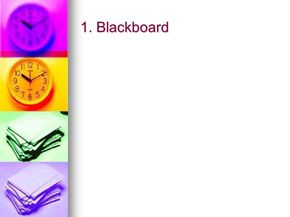 1. Blackboard