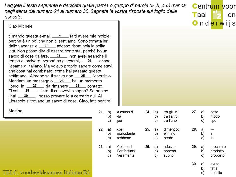 © 2006 TELC, voorbeeldexamen Italiano B2