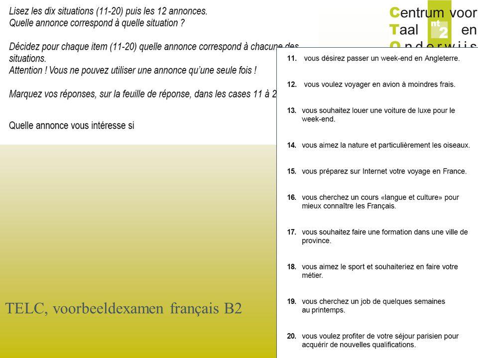 © 2006 TELC, voorbeeldexamen français B2