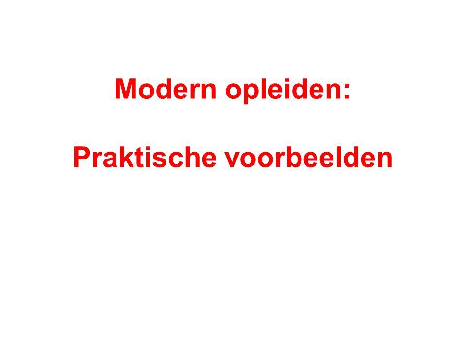 Modern opleiden: Praktische voorbeelden